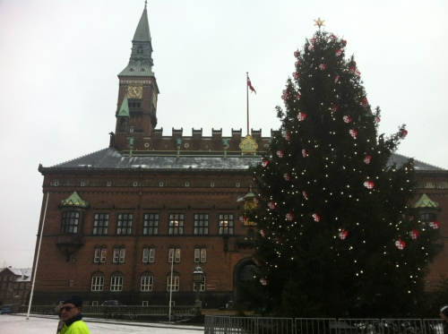 Copenhagen City Hall Christmas Tree