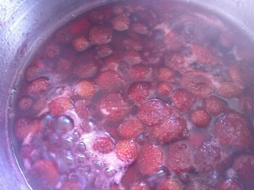 Cooked straberries